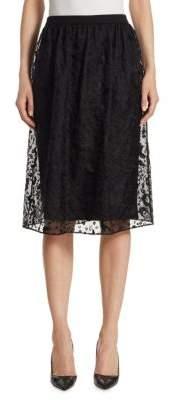 Thom Browne Sheer Organza Knit Skirt