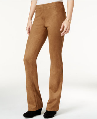 Style & Co. Faux-Suede Pull-On Pants, Only at Macy's $59.50 thestylecure.com