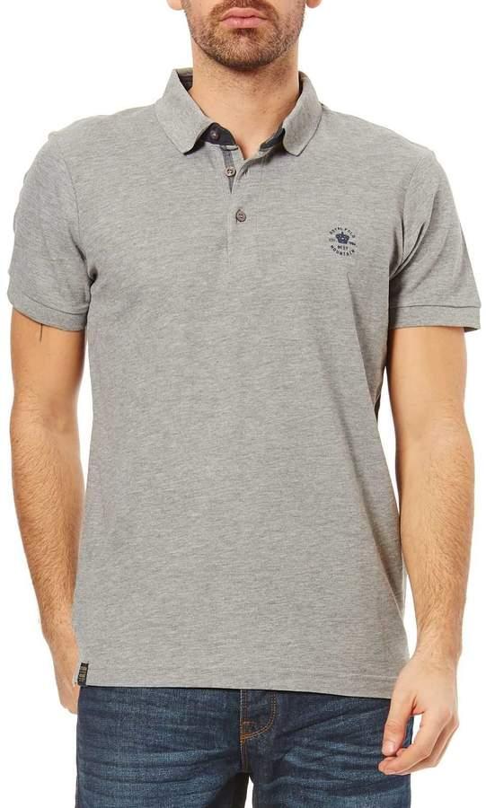 Kurzärmeliges Poloshirt - grau meliert
