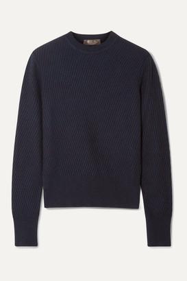 Loro Piana Ribbed Cashmere Sweater - Navy
