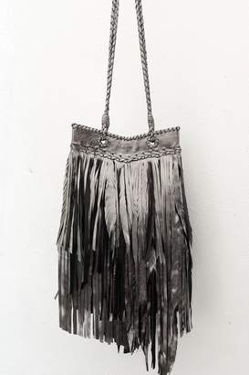 Areias Leather Pewter Fringes Bag
