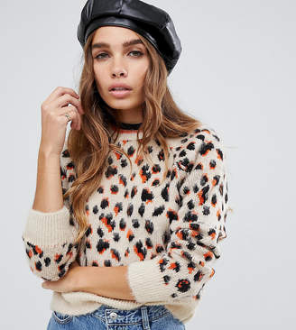Reclaimed Vintage inspired leopard print Sweater