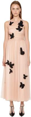 RED Valentino Embellished Swiss Dot Lace Dress