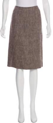 Alberta Ferretti A-Line Knee-Length Skirt Brown A-Line Knee-Length Skirt