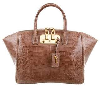 Pre Owned At Therealreal Vbh Crocodile Brera 32 Satchel