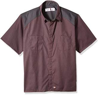 Red Kap Men's Big-Tall Striped Color Block Short Sleeve Shirt Big/Tall,4X-Large