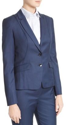 Petite Women's Boss Jenesa Stretch Wool Suit Jacket $625 thestylecure.com