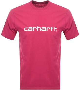 Script Logo T Shirt Pink