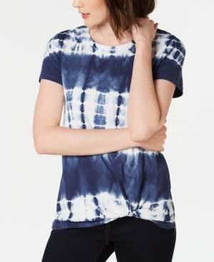 INC International Concepts I.n.c. Cotton Tie-Dye Twist T-Shirt, Created for Macy's