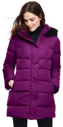 Lands' End Purple Petite Refined Down Coat