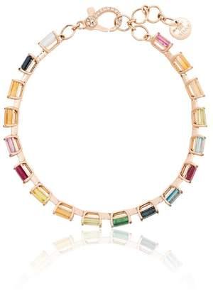 Shay rainbow gem 18K gold bracelet