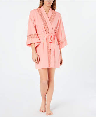 3691975e2f5 Charter Club Embroidered Lace Soft Knit Robe