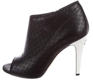 Chanel CC Perforated Leather Booties