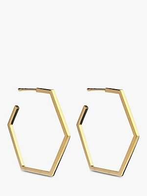 65935306f Rachel Jackson London Large Hexagon Hoop Earrings
