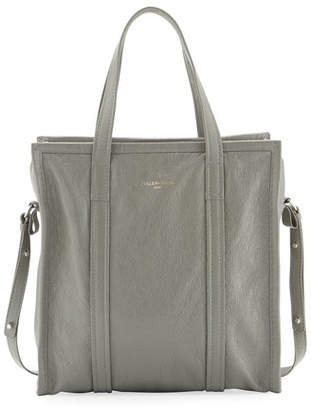 Balenciaga Bazar Shopper Small Tote Bag, Gray