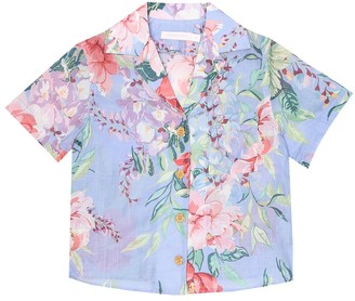 Zimmermann Kids Bellitude floral cotton shirt