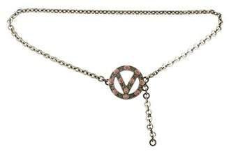 Valentino Logo Chain-Link Belt