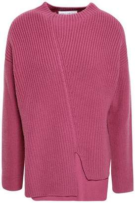 Robert Rodriguez Asymmetric Ribbed Wool And Cashmere-blend Sweater