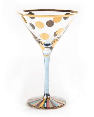 Mackenzie Childs MacKenzie-Childs Foxtrot Martini Glass