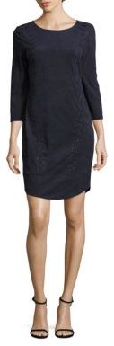 Laundry by Shelli Segal Faux Suede Lace-Up Dress $225 thestylecure.com