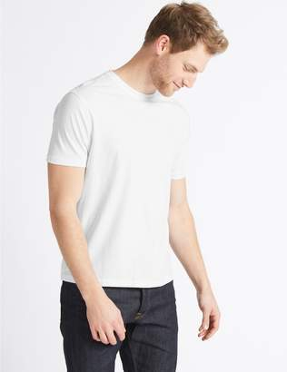Marks and Spencer Slim Fit Pure Cotton T-Shirt with Cool Comfort