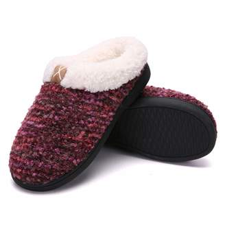 a563938b8 adituo Women's Home Slippers Memory Foam Indoor & Outdoor Plush Lining Anti- Slip Cozy Clog