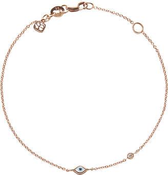 Sydney Evan The Alkemistry Evil eye 14ct rose-gold and diamond chain bracelet