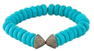 Elizabeth and James Turquoise Bead Split Bracelet