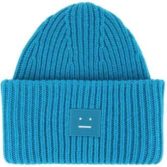 Acne Studios Ribbed Knit Beanie Hat