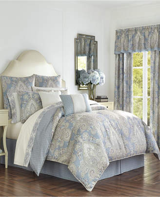 J Queen New York Royal Court Palermo Blue King Comforter Set