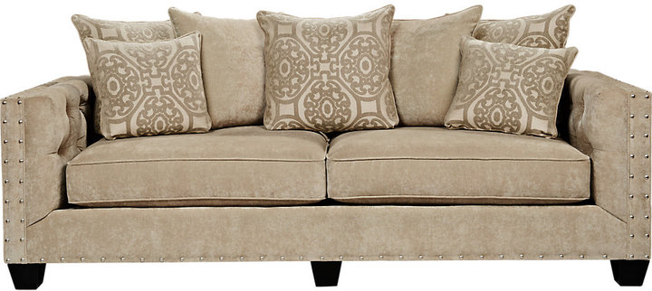 Cindy Crawford Cindy Crawford Home Sidney Road Taupe Sofa