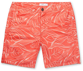 Onia Calder Long-Length Printed Swim Shorts - Men - Coral