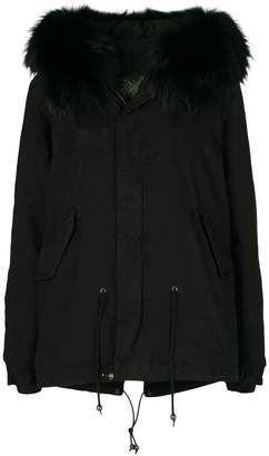 Mr & Mrs Italy fur hood short parka coat