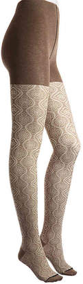 Me Moi MeMoi Floral Sweater Tights - Women's
