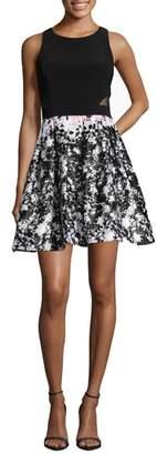 Xscape Evenings Print Skirt Party Dress
