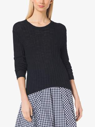 MICHAEL Michael Kors Ribbed Cotton-Blend Sweater