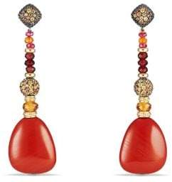 David Yurman Delta Drop Earring With Red Jasper, Garnet, Orange And