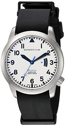 Momentum Men's 'Flatline 42' Quartz Stainless Steel and Rubber Casual Watch
