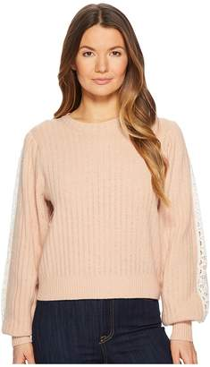 See by Chloe Sweater with Lace Trim Women's Sweater