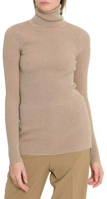 Forte Forte Forte_Forte Turtle Neck With Vanisé Lurex Ribs