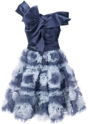 Marchesa floral skirt flared dress