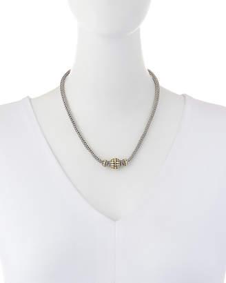 John Hardy Three-Bead Dot Chain Necklace