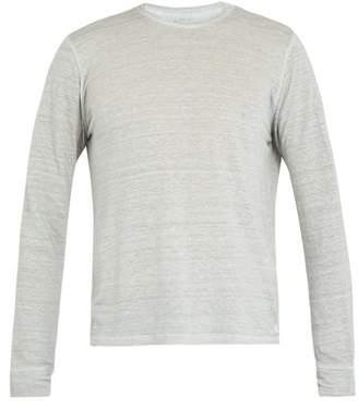 120% Lino Long-sleeved linen T-shirt