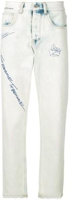 Ground Zero distressed straight-leg jeans