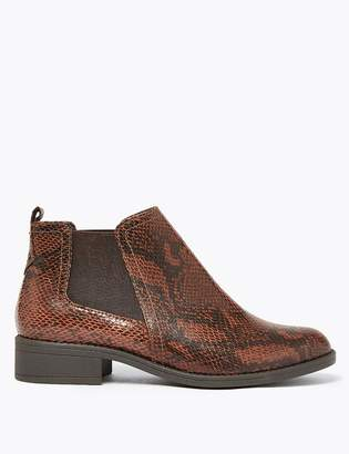 Marks and Spencer Animal Print Chelsea Ankle Boots