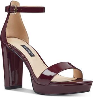 Nine West Dempsey Platform Sandals Women Shoes