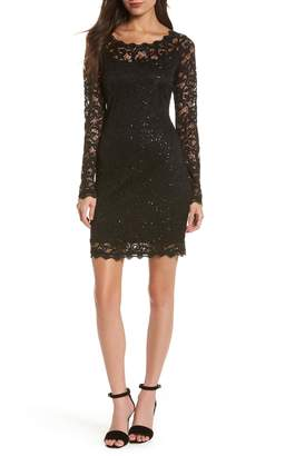 92654320b at Nordstrom · Sequin Hearts Sequin Lace Sheath Dress