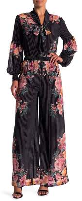 Flying Tomato Patterned Wide Leg Woven Pants
