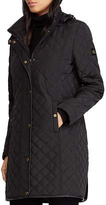 Lauren Ralph Lauren Hooded Diamond-Quilted Jacket
