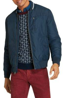 Brooks Brothers Red Fleece Nylon Bomber Jacket
